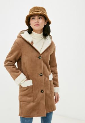 Дубленка Marks & Spencer. Цвет: коричневый