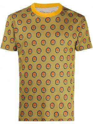 Пижамный топ с принтом Viktor & Rolf. Цвет: желтый