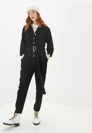 Комбинезон джинсовый Miss Bon. Цвет: черный