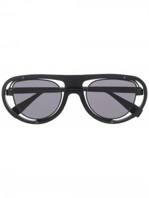 Солнцезащитные очки-авиаторы Kuboraum. Цвет: черный