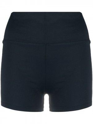 Облегающие шорты Filippa K Soft Sport. Цвет: синий