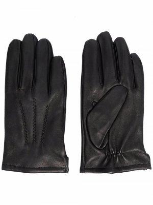 Перчатки с декоративной строчкой Karl Lagerfeld. Цвет: черный