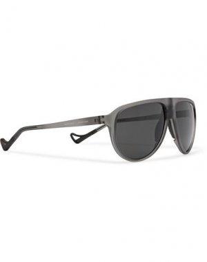 Солнечные очки DISTRICT VISION. Цвет: свинцово-серый