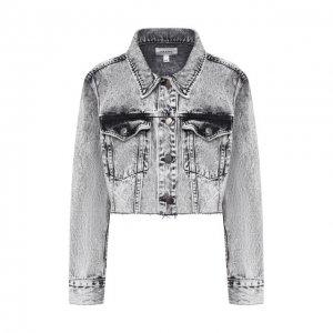 Джинсовая куртка Frame Denim. Цвет: серый