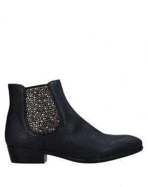Полусапоги и высокие ботинки BISOUS. Цвет: черный