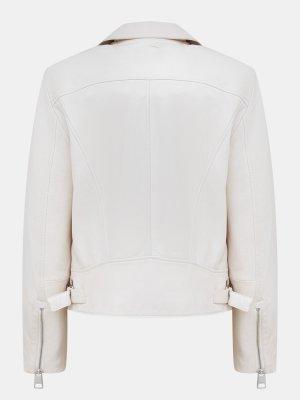 Кожаная куртка Juana BOSS. Цвет: belyy