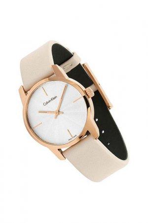 Наручные часы Calvin Klein. Цвет: розовый