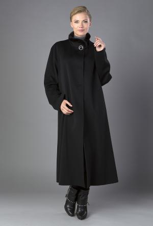 Осеннее женское пальто большого размера Heresis. Цвет: черный