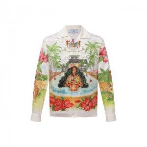 Хлопковая рубашка Casablanca. Цвет: разноцветный