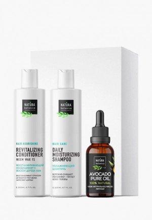 Набор для ухода за волосами Natura Botanica Роскошные волосы, Шампунь 200 мл + Кондиционер Масло 30. Цвет: белый