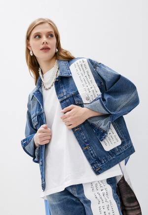Куртка джинсовая MM6 Maison Margiela STUDIO COLLECTION. Цвет: синий