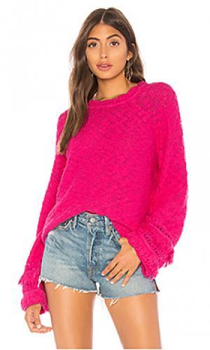 Пуловер friday Lovers + Friends. Цвет: фуксия