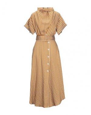 Платье длиной 3/4 CAMILLA AND MARC. Цвет: верблюжий