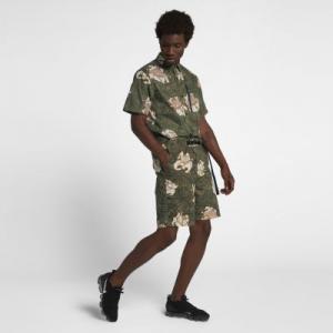 Мужские шорты Lab Collection Floral Nike. Цвет: оливковый