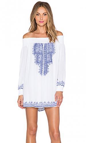 Платье-туника jacqueline Tularosa. Цвет: белый