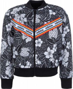 Толстовка для девочек FARM Rio, размер 170 Adidas. Цвет: черный