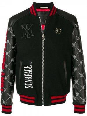 Куртка-бомбер Scarface Philipp Plein. Цвет: черный
