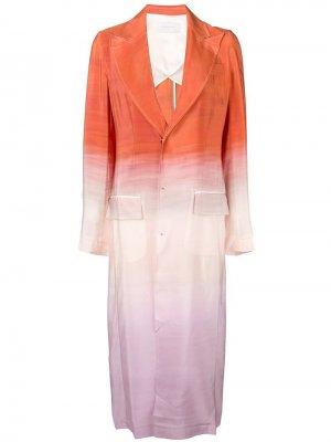 Однобортное пальто с эффектом градиент Esteban Cortazar. Цвет: оранжевый