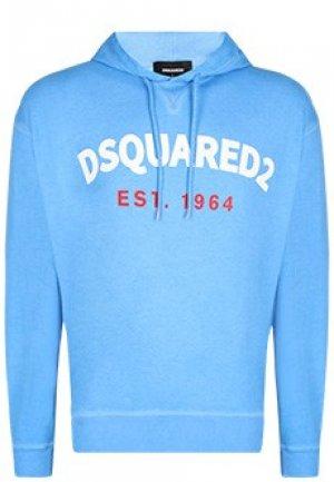 Толстовка DSQUARED2. Цвет: синий