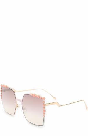 Солнцезащитные очки Fendi. Цвет: разноцветный