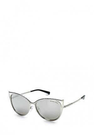 Очки солнцезащитные Michael Kors MI186DWQBT42. Цвет: серебряный