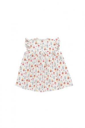 Платье artie. Цвет: ванильный
