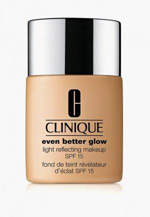 Тональное средство Clinique Even Better Glow Light Reflecting Makeup SPF 15, CN40 Cream Chamois, 30 мл.. Цвет: бежевый