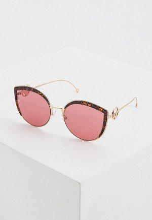 Очки солнцезащитные Fendi FF 0290/S DDB. Цвет: золотой
