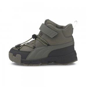 Детские кроссовки Maka V PS PUMA. Цвет: серый