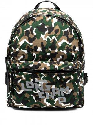 Рюкзак с камуфляжным принтом Longchamp. Цвет: зеленый