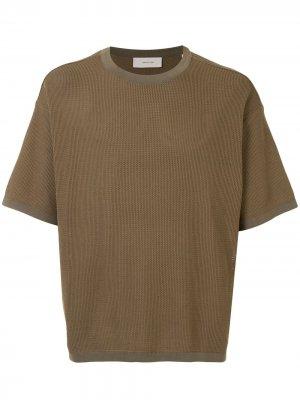 Фактурная футболка с круглым вырезом Cerruti 1881. Цвет: коричневый