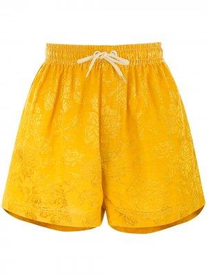 Maple drawstring-waist shorts Karen Walker. Цвет: mustard