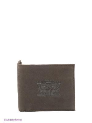 Портмоне Levi's®. Цвет: темно-коричневый