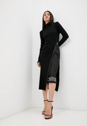 Платье John Richmond. Цвет: черный