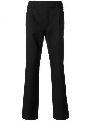 Классические брюки строгого кроя Saint Laurent. Цвет: черный