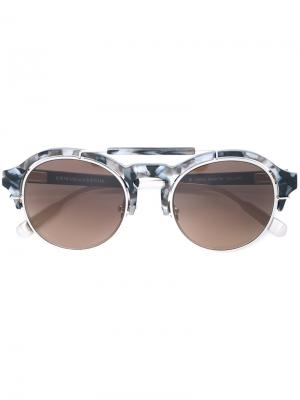 Солнцезащитные очки 64 С5 Kris Van Assche. Цвет: чёрный