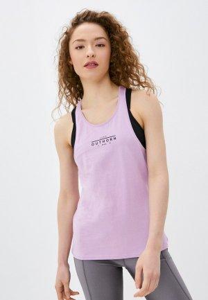 Майка спортивная Outhorn. Цвет: фиолетовый