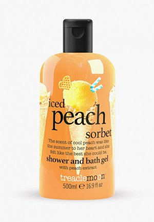 Гель для душа Treaclemoon Персиковый сорбет Iced Peach Sorbet  bath & shower gel, 500 мл. Цвет: прозрачный