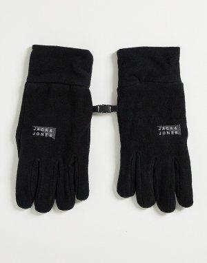 Черные флисовые перчатки -Черный цвет Jack & Jones