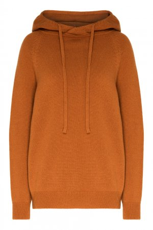 Коричневый пуловер с капюшоном Alena Akhmadullina. Цвет: бежевый
