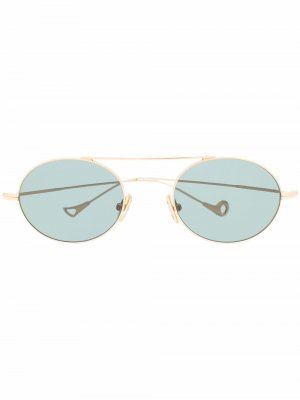 Солнцезащитные очки S.Eularia в овальной оправе Eyepetizer. Цвет: золотистый