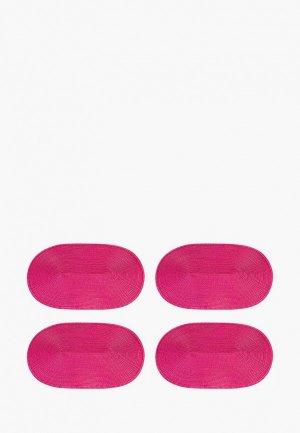 Комплект салфеток сервировочных El Casa. Цвет: розовый