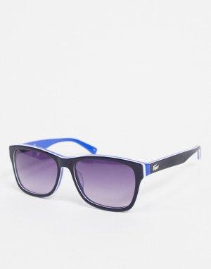 Квадратные солнцезащитные очки -Голубой Lacoste