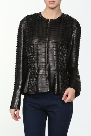 Куртка кожаная Gucci. Цвет: черный