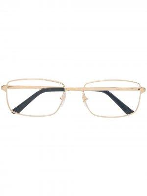 Очки Santos в прямоугольной оправе Cartier Eyewear. Цвет: золотистый