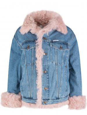 Джинсовая куртка с мехом FORTE COUTURE