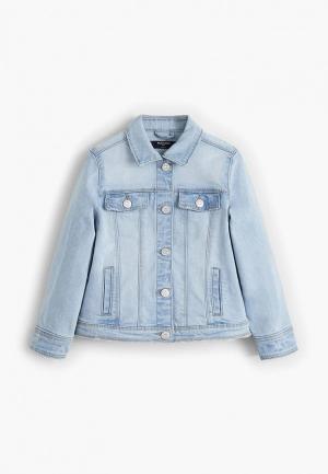 Куртка джинсовая Mango Kids - ALLEGRA. Цвет: голубой