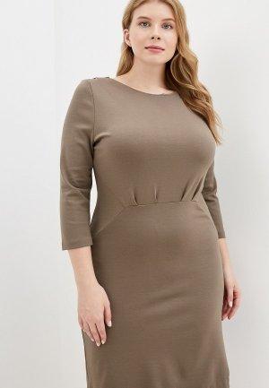 Платье Colletto Bianco. Цвет: хаки