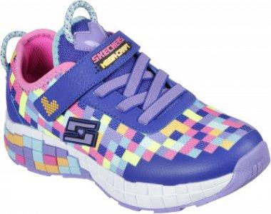 Кроссовки для девочек Power Pixels, размер 32 Skechers. Цвет: фиолетовый