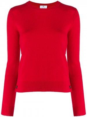 Кашемировый свитер кроя слим Allude. Цвет: красный